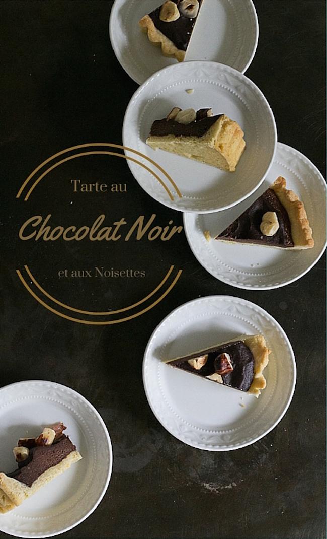 Tarte au Chocolat Noir et aux Noisettes