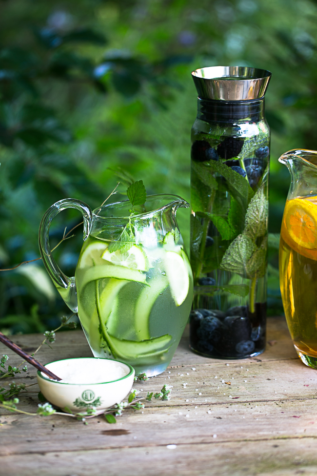 cucumber and lime infused water