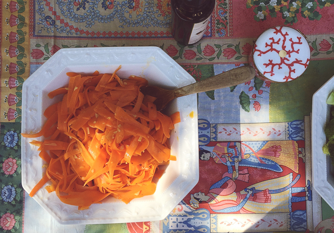 carrot + coriander + garlic salad