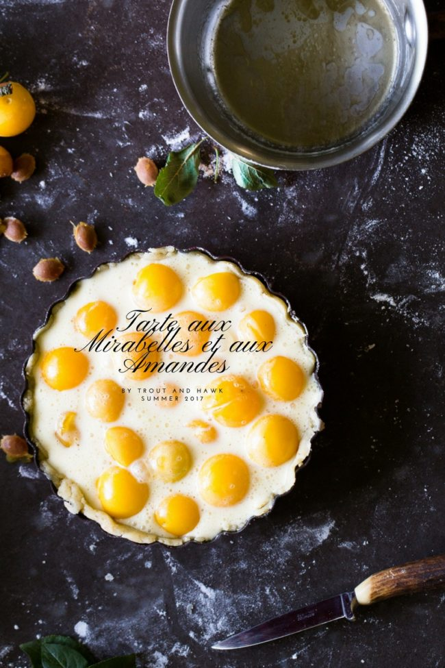 mirabelle and almond tart