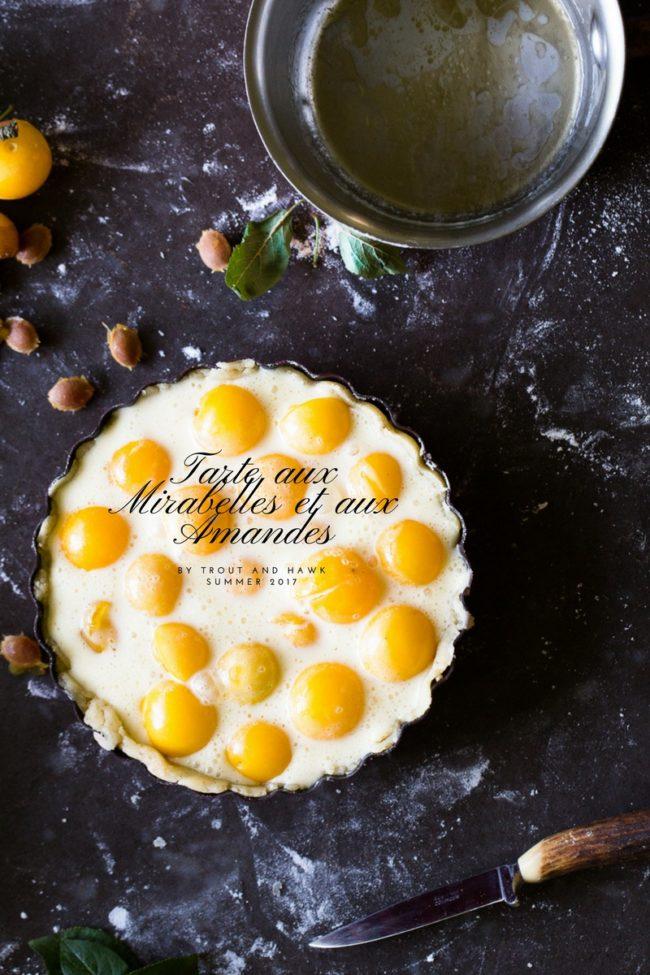 mirabelle and almond tart