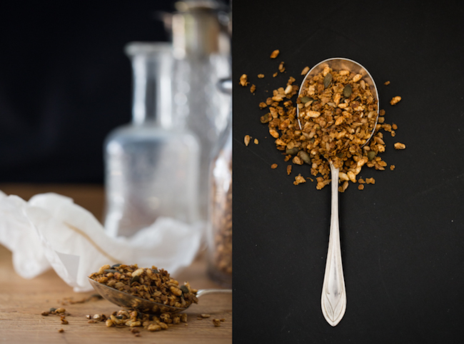 seedy olive oil granola