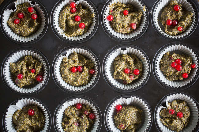 hemp and red currant cupcakes
